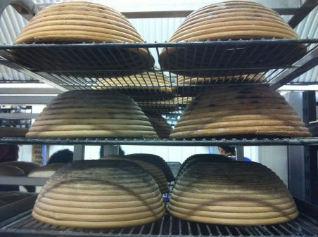 The Bannetons which the bread will rest in before being baked.